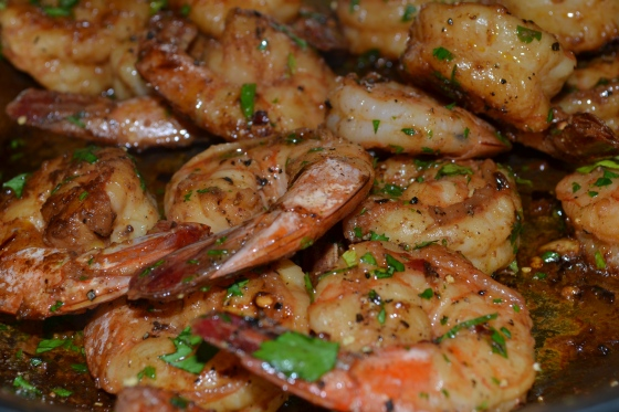 Spicy Shrimp with Garlic, Lemon & White Wine