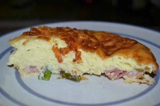 Ham, Asparagus & Gruyere Crustless Quiche