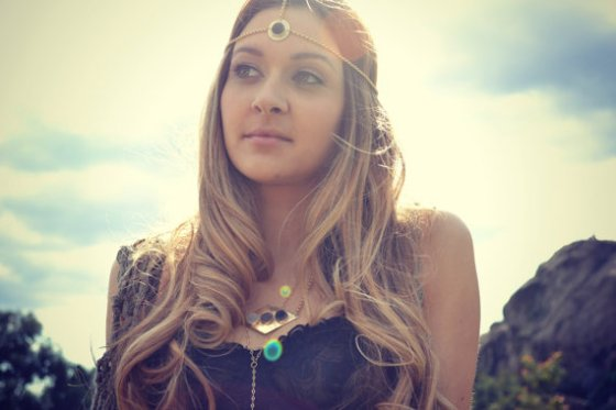Brass Druzy Head Chain by Lux Divine
