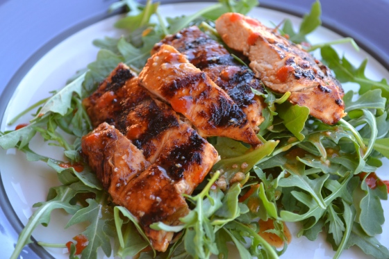 Honey Srichacha Grilled Chicken Salad
