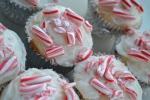 Skinny Vanilla Candy Cane Cupcakes