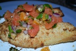 Crusted Tilapia with Orange Jalapeno Salsa